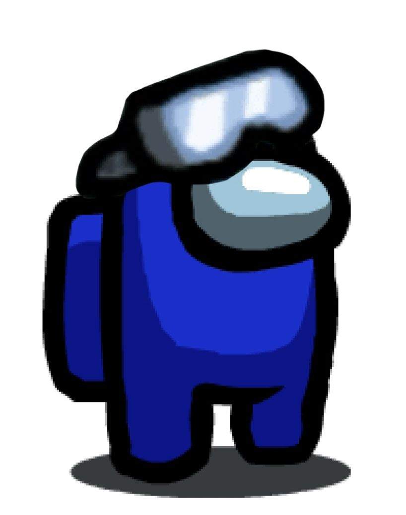 Among Us Blue With Ski Goggles Mario Characters Character Fictional Characters