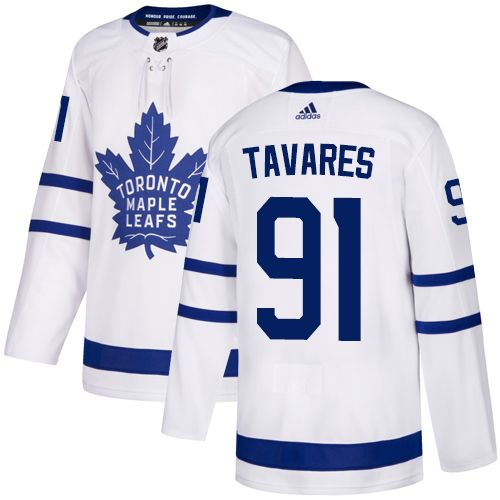 Adidas Maple Leafs  91 John Tavares White Road Authentic Stitched NHL Jersey 0a3f53b82