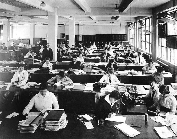 women in the 20's working | Closet of a Feminist ...