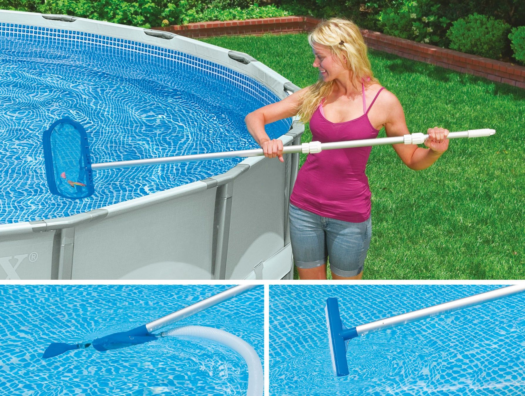 Pool Reinigungsset Video Intex Pool Reinigungsset Skimmer Mit Saugerkopf Intex