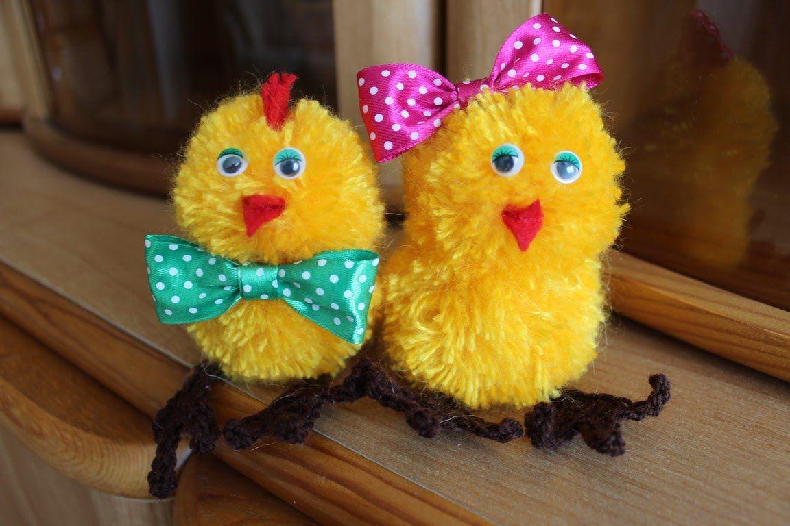 Цыпленок из помпонов своими руками фото 836