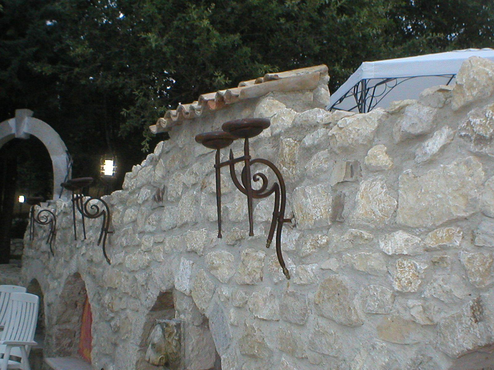 Lampada braciere Romano in ferro battuto