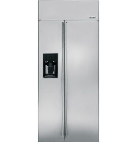 G E Monogram 36 In Energy Star Roved Easy To Clean And Access Both Fridge Freezer For Anyone A Wheelchair