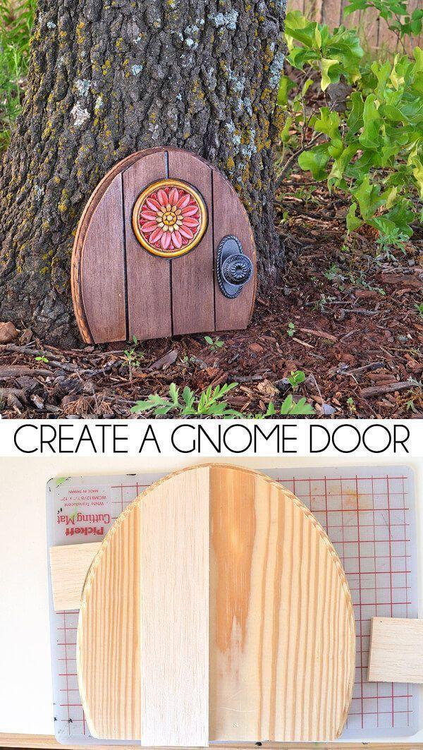 Photo of Create a Gnome Door – Outdoor Decor