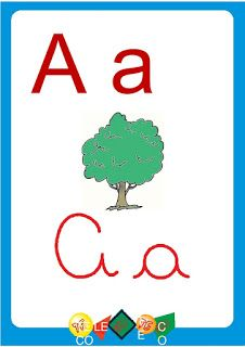 Cartazes De Parede Para Sala De Aula Alfabeto E Numeros