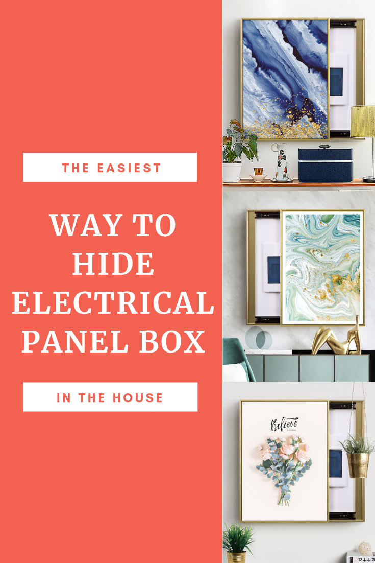 enjoy stylish wall art as the smartest solution to hide an electrical panel box in your house easily cover a fuse board in your home with bright canvas  [ 735 x 1102 Pixel ]