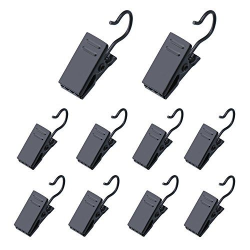 100 Pack Stainless Steel Clip Hook Metal Hanging Curtain