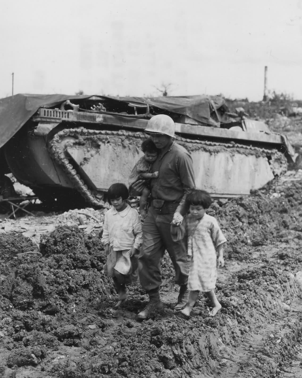 77th Infantry Division Soldier Saving Okinawan Children ...