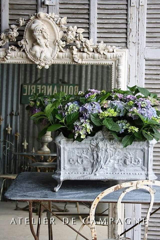 Pin von Jean auf Shabby chic | Pinterest | Gartendeko, Vintage deko ...