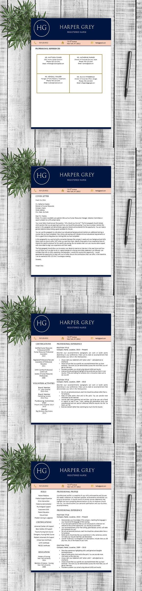 Resume Template Harper G resume resumes