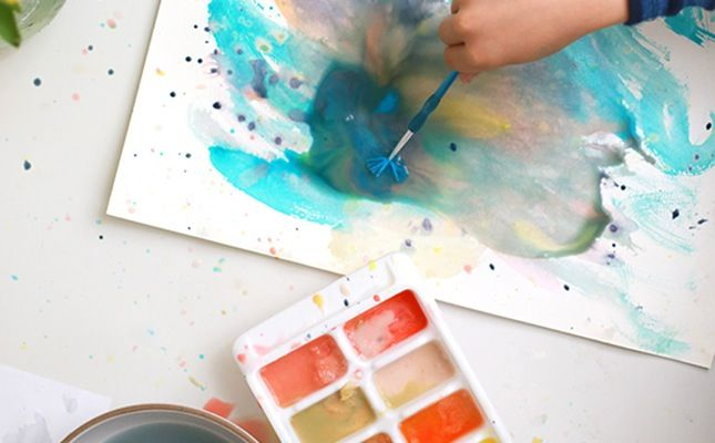 How To Make Watercolor Paint Using Food Coloring Diy Craft