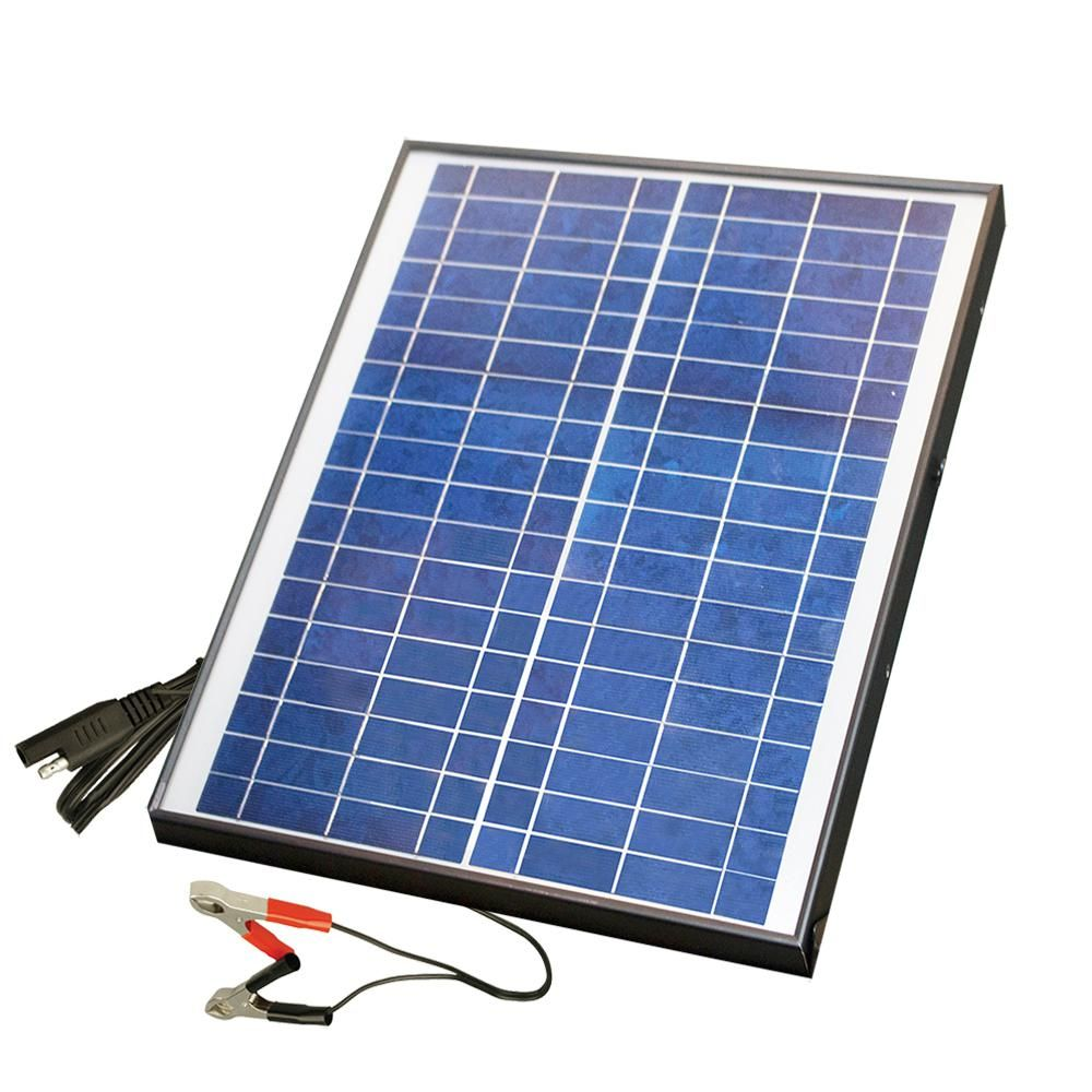 Nature Power 20 Watt Polycrystalline Solar Panel For 12 Volt Charging 23208 The Home Depot Solar Energy Panels Solar Panels Solar