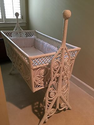 Antique-Victorian-Wicker-Baby-Crib-circa-1800-039-s-great-shape | I ...