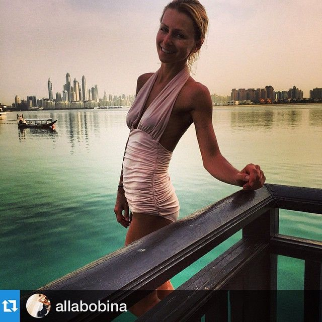 So excited to see @allabobina in our Halter Mio! #regram #normakamali #swimwear ☀️