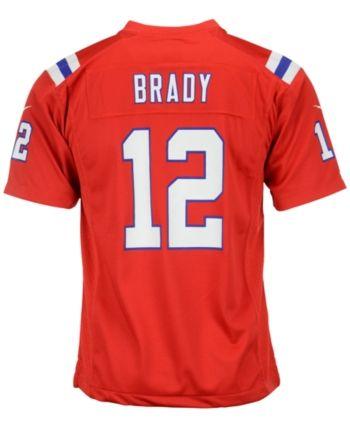 d3b6f3e5b Nike Kids' Tom Brady New England Patriots Game Jersey, Big Boys (8-20) -  Red L