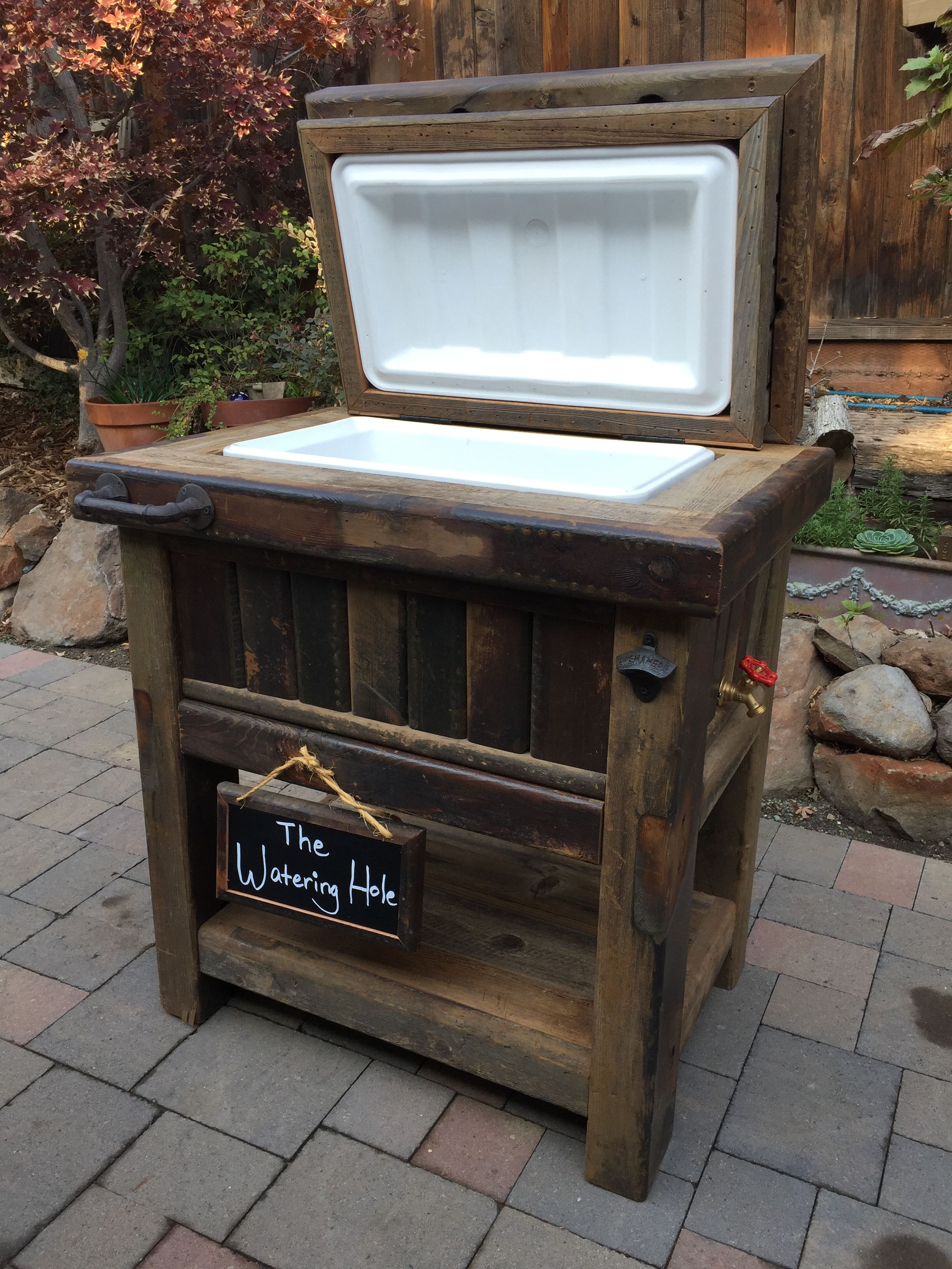 Wood Patio Cooler Plans: Pin By Steven Franks On Projects
