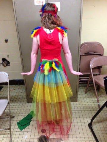 Iago Aladdin RED Bird Fancy Dress Headress Feather Hairband Costume