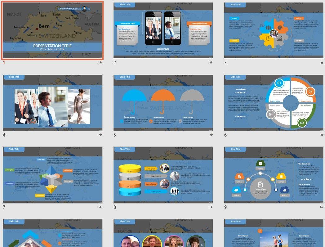 Switzerland PowerPoint by SageFox