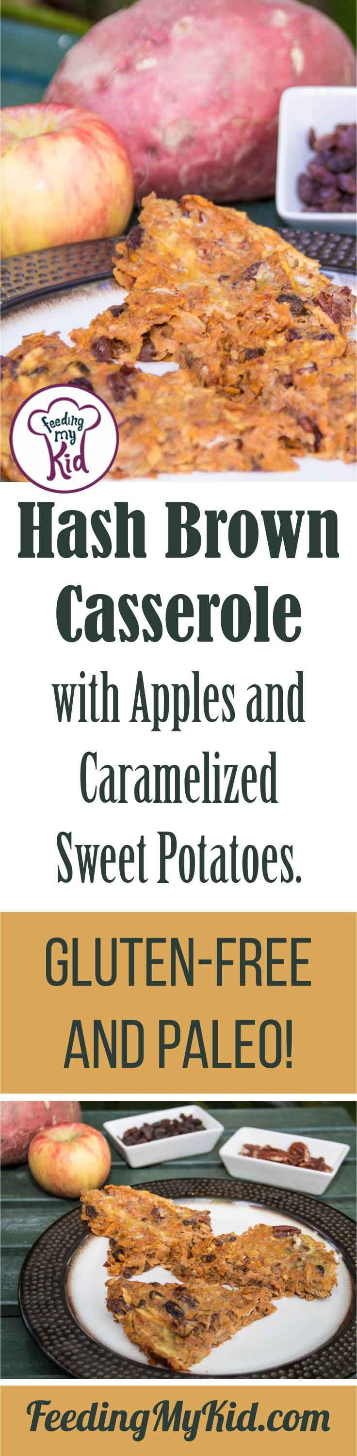 Hash Brown Casserole with Apples and Caramelized Sweet