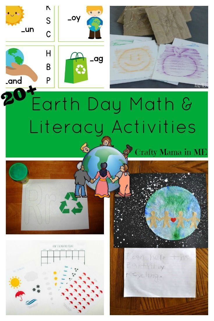Earth Day Math and Literacy Activities for Kids {Free Printables ...