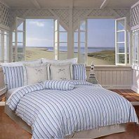 Life can be a day at the beach with the arrival of the Cabana Stripe Collection from Miller Home Fashions.