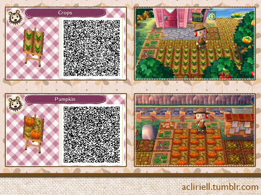 Plantations crops and pumpkins set of 3 animal for Animal crossing boden qr