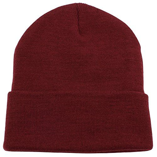 CUFFED PLAIN SKULL BEANIE HAT  CAP  Winter Unisex Knit Hat Toboggan For Men  Women  Unique  Timeless Clothing Accessories By Top Level