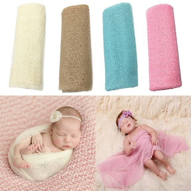 Baby Bedding 1pc Ewborn Baby Infant Wrap Knit Towel Baby Photography Props Wraps Cloth Gauze Back To Search Resultsmother & Kids