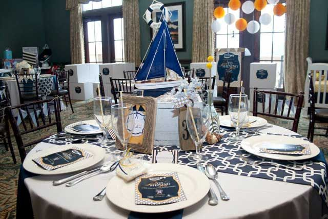 Nautical Baby Shower Operation Shower Sea To Shining Sea Baby Shower Table Decorations Nautical Baby Shower Decorations Baby Shower Table