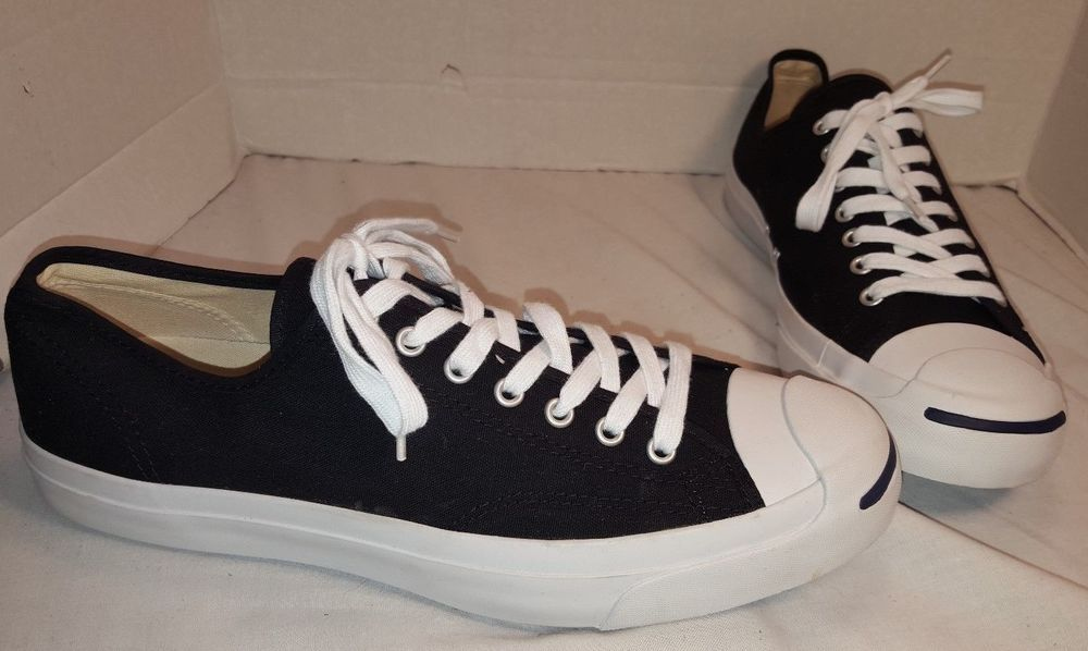 MEN'S CONVERSE JACK PURCELL BLACK JACK OX CANVAS  LO SNEAKERS SIZE 12 #CONVERSE #JACKPURCELL