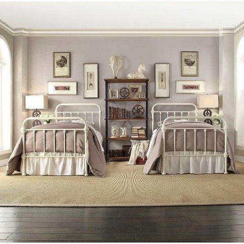 tilden standard metal bed white twin - Standard Metal Bed Frame