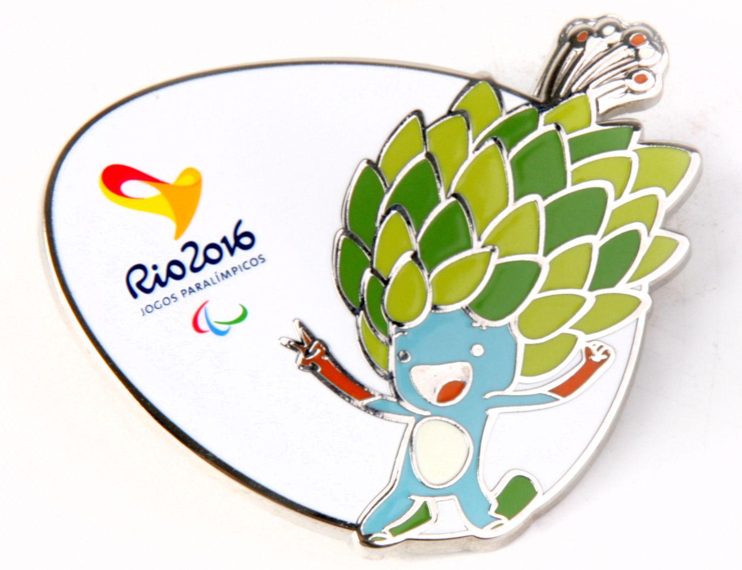 Pin Do Mascote Paralimpico Rio2016 Tom Jogos Olimpicos