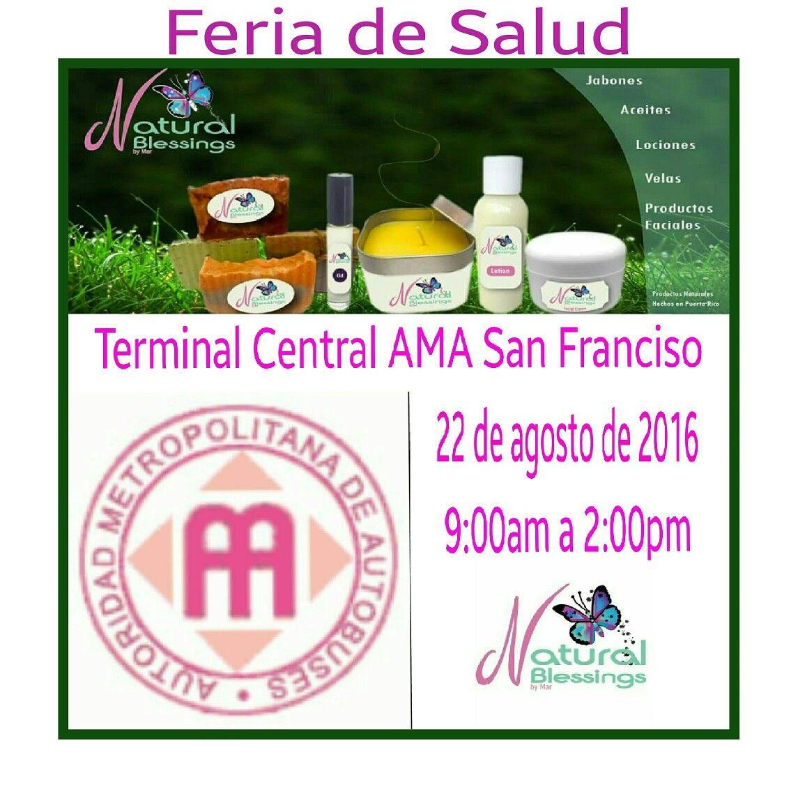 Mañana de 9:00am a 2:00pm nos vemos en la Feria.de Salud en el Terminal Central de la AMA en San Francisco.