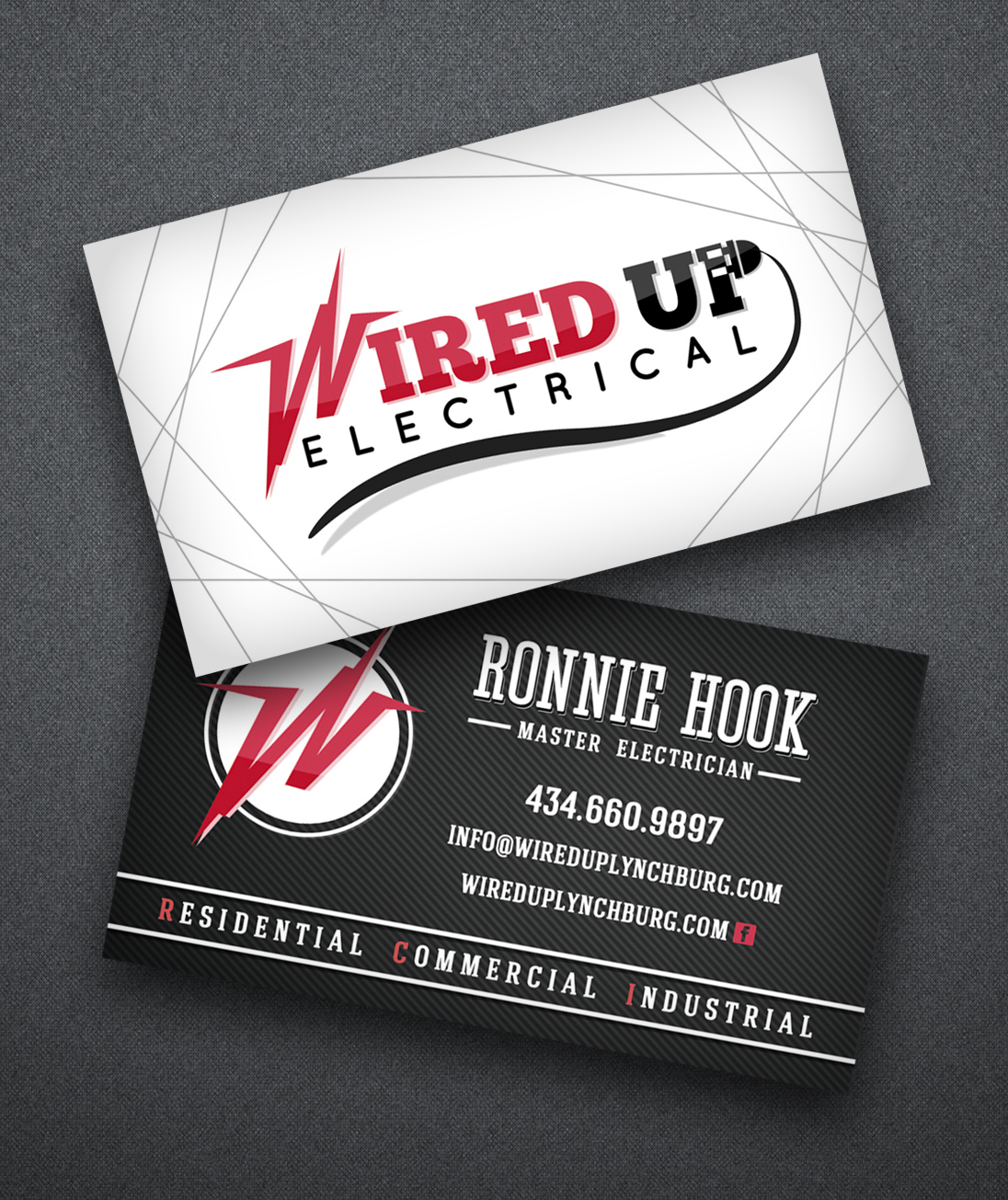 Designed Business Cards For An Electrician.