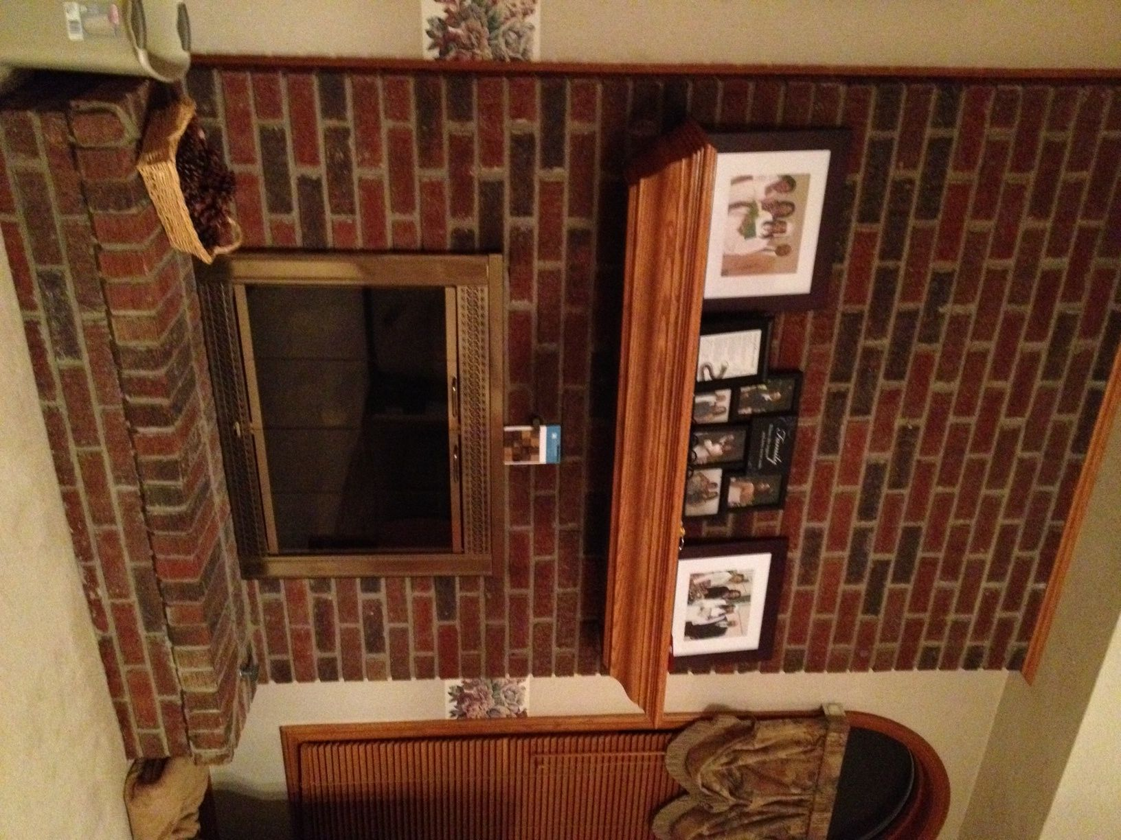 brick remodel chalkboard makeover fifth achalkboardbrickfireplacemakeover fireplace house our