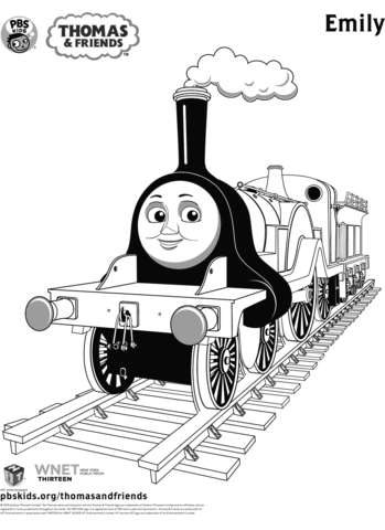 Emily From Thomas Friends Coloring Page Train Coloring Pages Coloring Pages Thanksgiving Coloring Pages