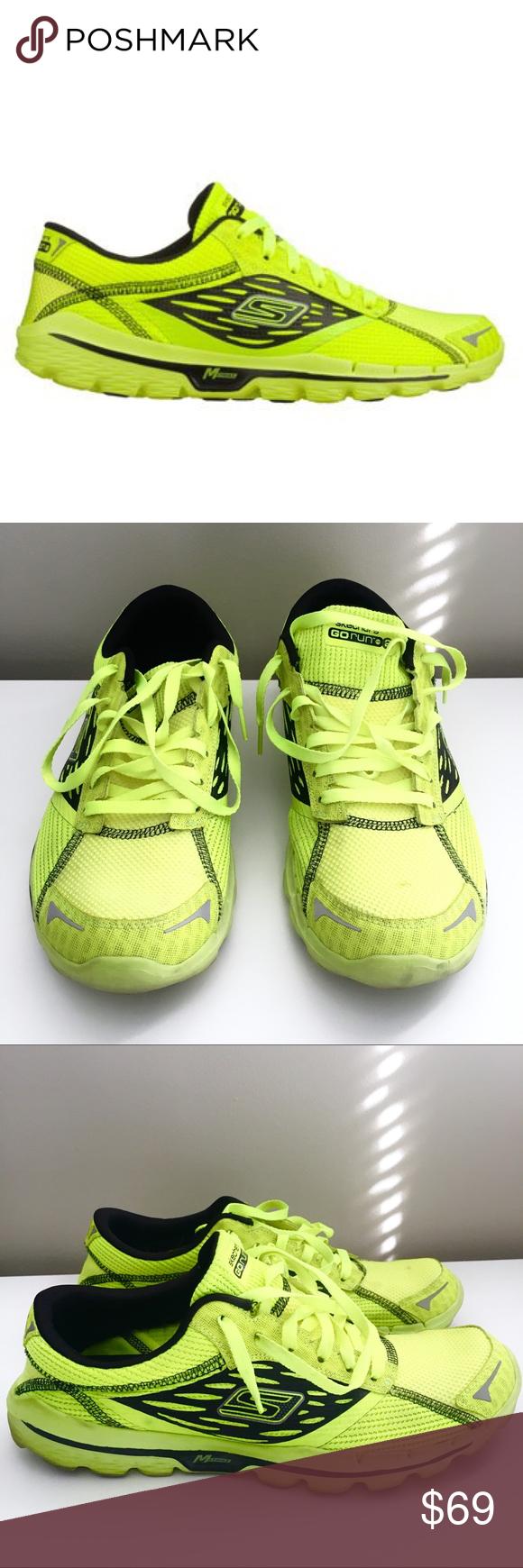 Skechers Go Run 2 Neon Lime & Black Running Shoe Men's