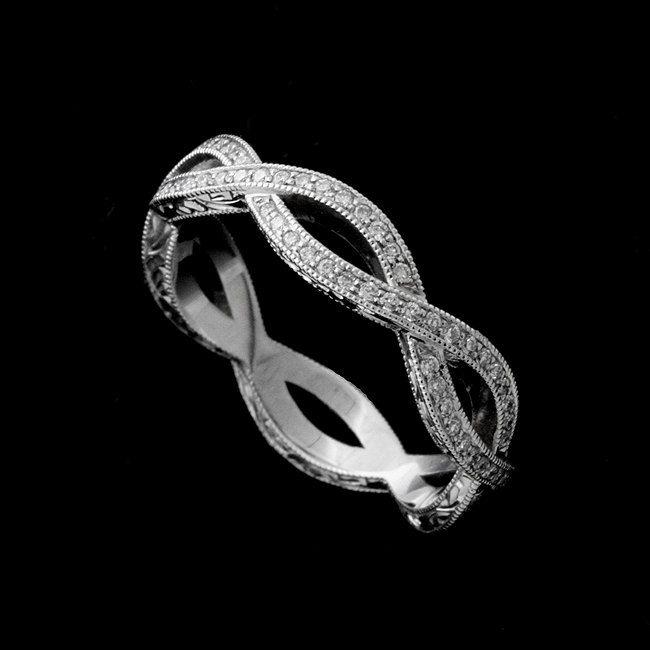 Sale Wedding Ring Diamond Wedding Ring Eternity Infinity Diamond Wedding Rings Engraved Wedding Rings Infinity Ring Wedding