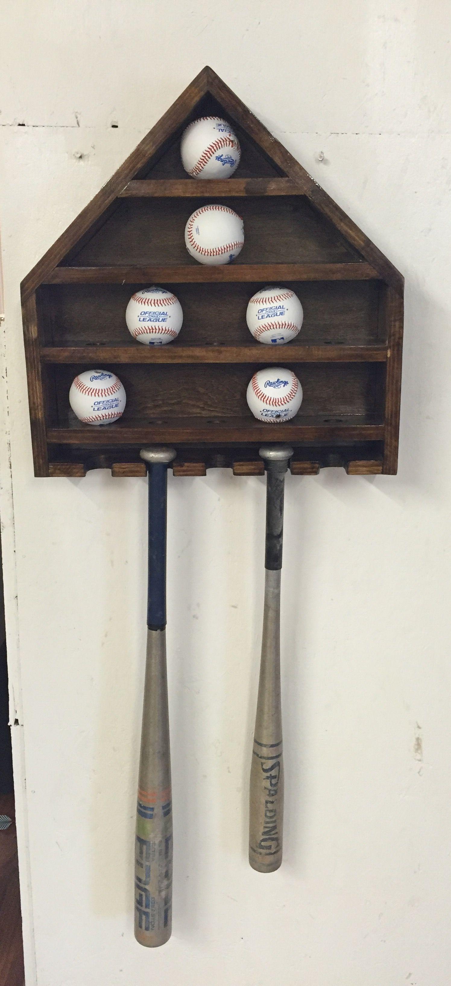 Baseball display shelf.