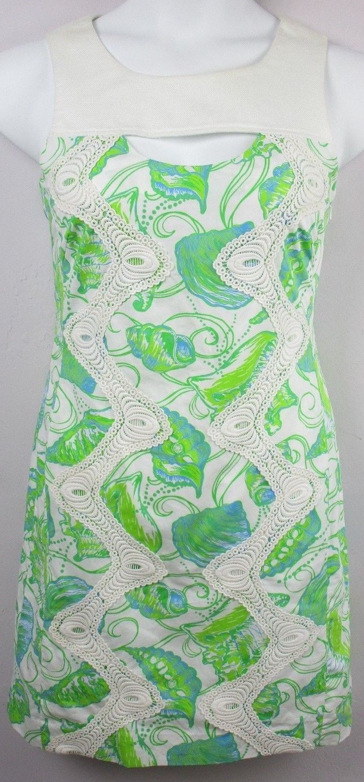Bazar Christian Lacroix Women's Crotchet Dress Size L Multicolor Sleeveless