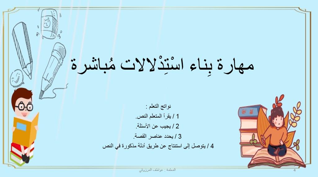 اللغة العربية بوربوينت مهارة ب ناء استدلالات مباشرة للصف الثالث Movie Posters Movies Poster
