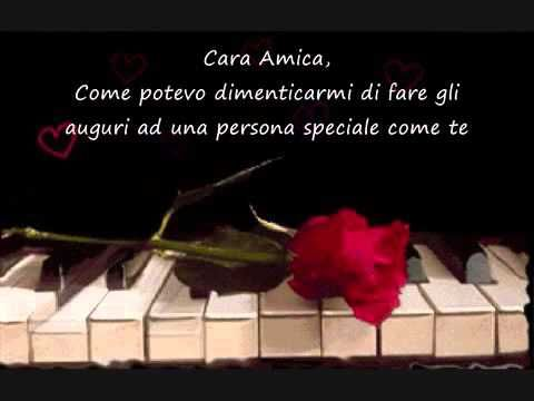 Buon Compleanno Amica Mia Youtube Happy Birthday Youtube Italian Quotes