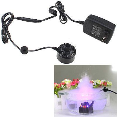 12 Led Mist Maker Fogger Water Fountain Pond Fog Machine Atomizer Air Humidifier Indoor Waterfall Water Fountain Indoor Fountains