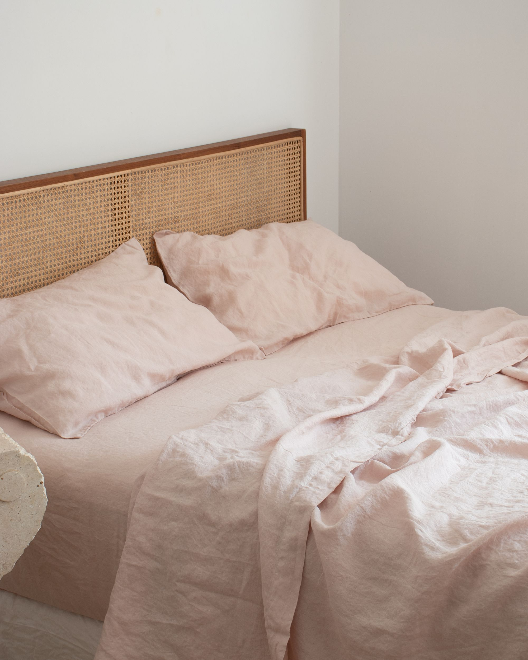 Best Blush French Linen Sheets Rattan Home Decor In 2020 400 x 300