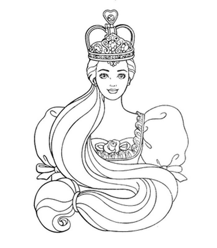 barbie as rapunzel coloring pages   Coloring Pictures, Kids Coloring Pages   Rapunzel coloring ...