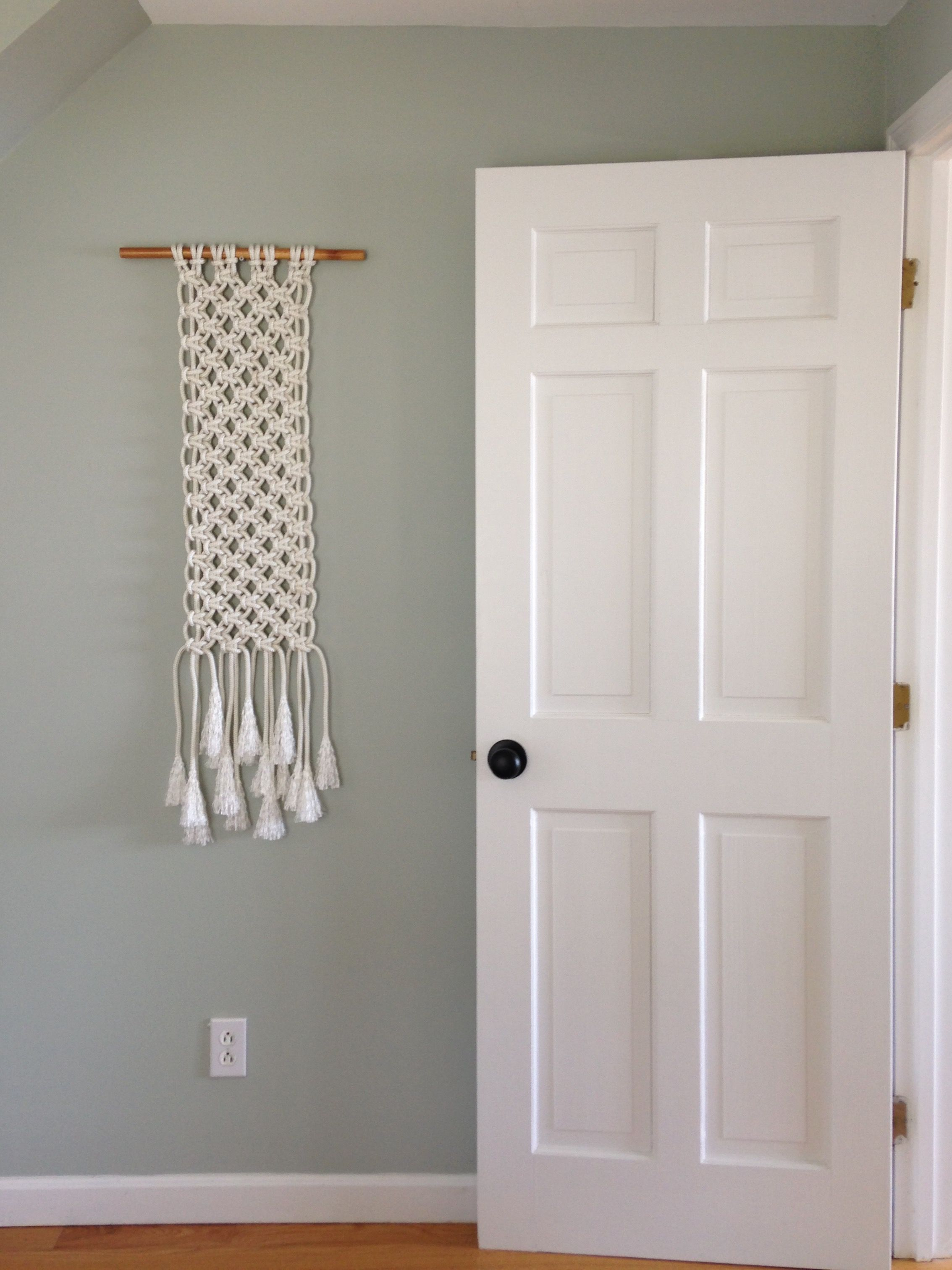 Benjamin moore gray wisp white macrame wall hanging - Master bedroom and bathroom paint colors ...