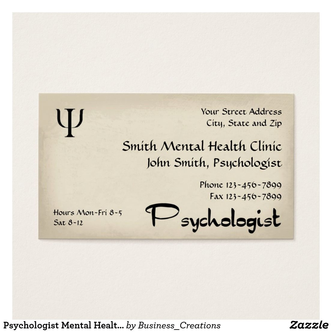 Psychologist Mental Health Business Card Custom Check out more ...