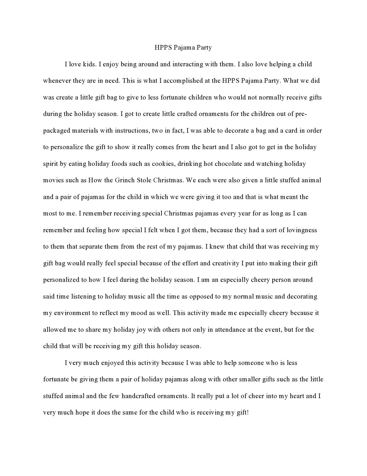 reflection sample paper