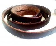 Πλακέ φυσικό δέρμα 10x2mm καφέ τιμη ανα μισό μετρο