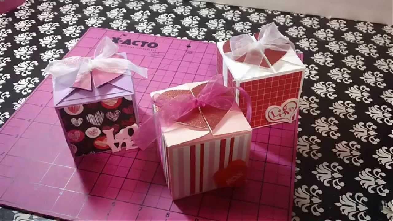 Cajita de regalo scrapbook para manualidades regalos for Cosas originales para regalar
